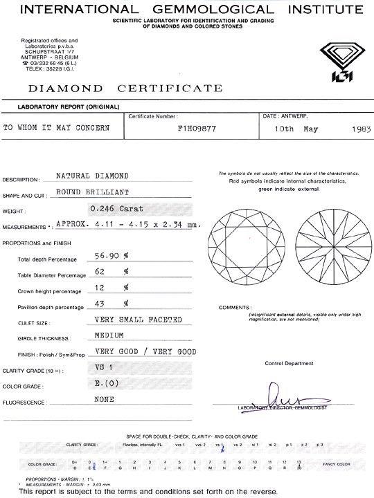 Foto 9, Diamant 0,246ct Brillant IGI River Hochfeines Weiss VS1, D6279