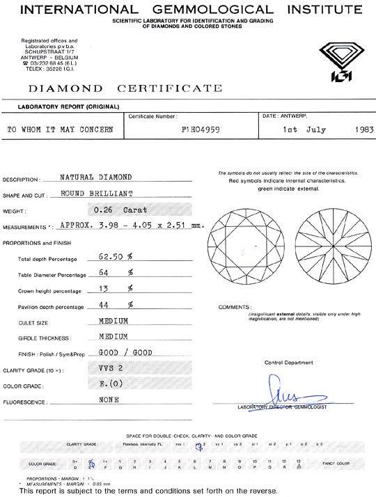 Foto 9, Brillant 0,26ct Diamant River Hochfeines Weiss VVS2 IGI, D6285