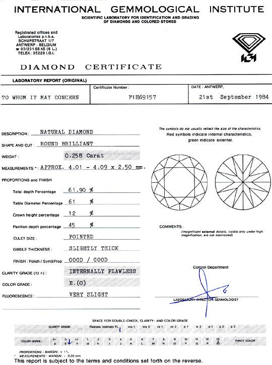 Foto 9, Diamant 0,258ct Brilliant IGI Expertise Lupenrein River, D6286