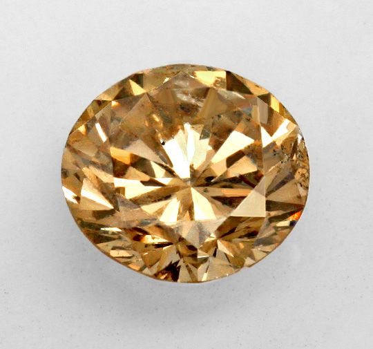 Foto 2, Brillant 1,77 Carat Super Bronze Kupfer Gold Braun, IGI, D6294