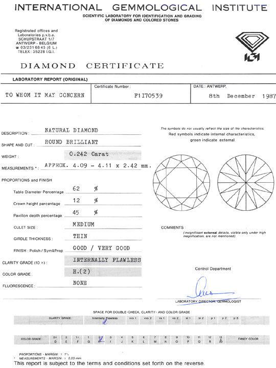 Foto 9, Diamant 0,242ct Brilliant Lupenrein Wesselton Weiss IGI, D6310