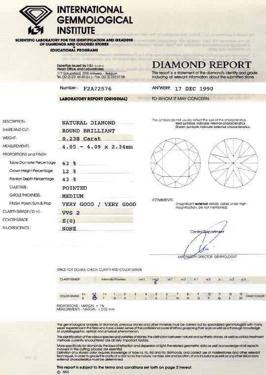 Foto 9, Diamant 0,238 Brilliant River Hochfeines Weiss VVS2 IGI, D6313