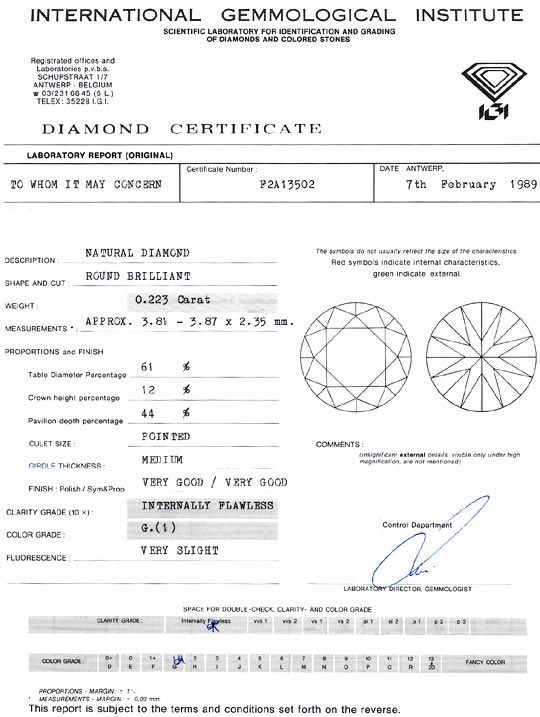 Foto 9, Diamant 0,223Carat Brillant Lupenrein Top Wesselton IGI, D6314