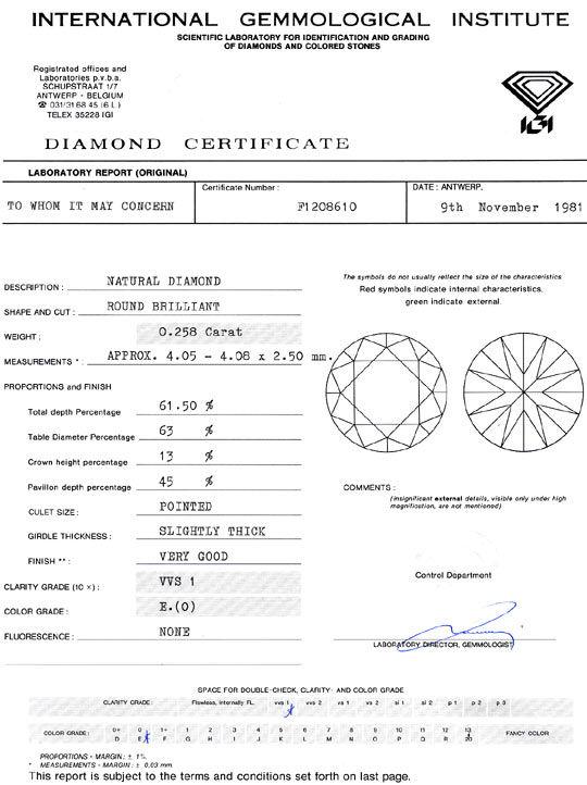 Foto 9, Diamant 0,258ct Brillant IGI River Hochfeines Weiss VVS, D6318