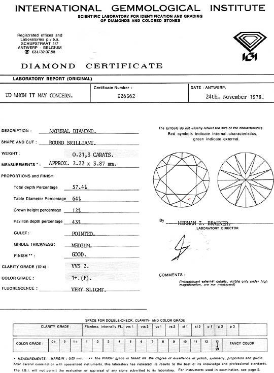 Foto 9, Diamant 0,213 Carat Brillant IGI feines Weiss Plus VVS2, D6321