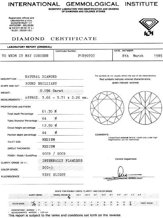 Foto 9, Diamant 0,196 Brilliant IGI Expertise Lupenrein River D, D6322