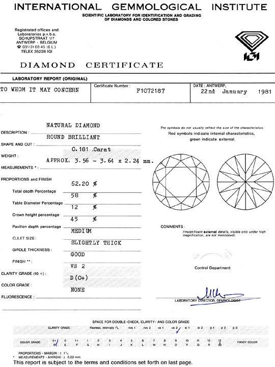 Foto 9, Diamant 0,18 Brillant IGI River D Hochfeines Weiss Plus, D6325