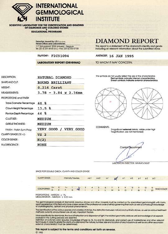 Foto 9, Diamant 0,216 Brillant IGI Experitse Wesselton Weiss VS, D6333