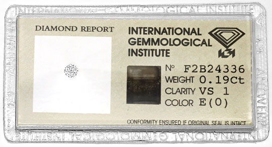 Foto 1, Diamant 0,19 ct Brillant IGI River Hochfeines Weiss VS1, D6338