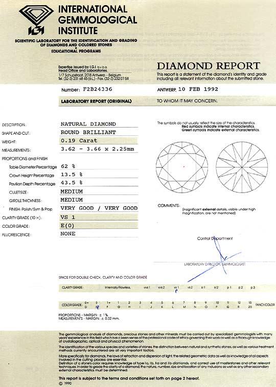 Foto 9, Diamant 0,19 ct Brillant IGI River Hochfeines Weiss VS1, D6338