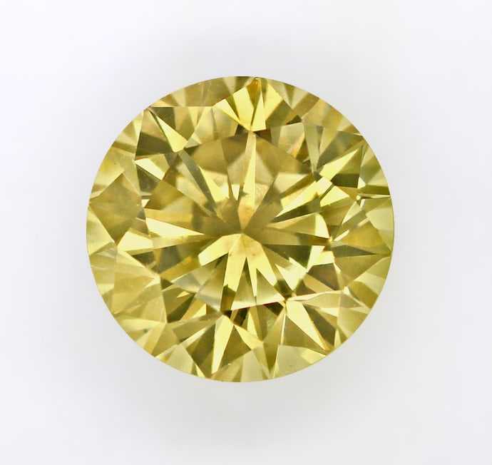 Foto 2, Diamant 1,16ct Brilliant IGI Expertise Gold Braun VVS2 , D6357