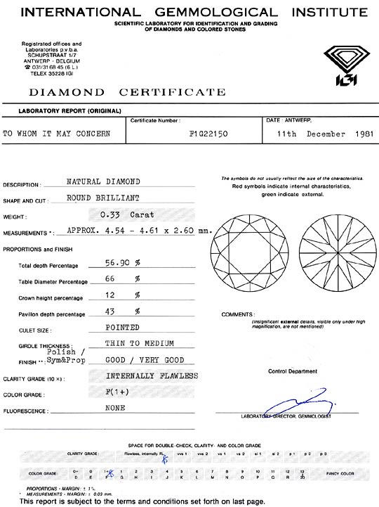 Foto 9, Diamant 0,33ct Brillant IGI Lupenrein feines Weiss Plus, D6363