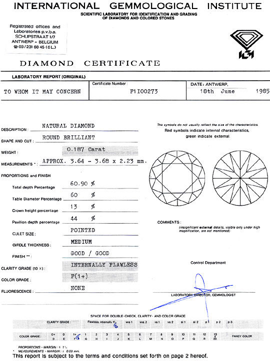 Foto 9 - Diamant 0,18ct Brillant IGI Lupenrein feines Weiss Plus, D6385