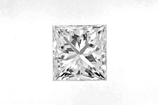 Foto 2, Diamant im Princess Schliff 0,60ct VS Top Wesselton IGI, D6386