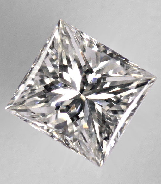 Foto 2, Diamant im Princess Schliff 0,54 ct VS1 Top Crystal IGI, D6387