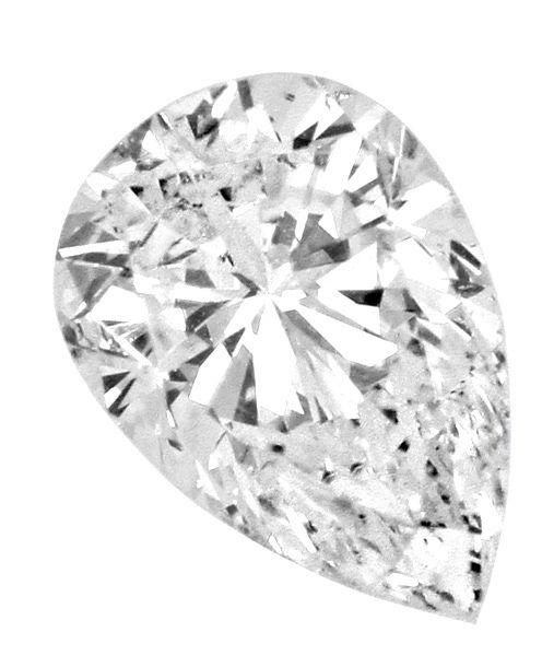 Foto 2, Diamant Tropfen 0,54Carat Top Crystal SI2 IGI Gutachten, D6415