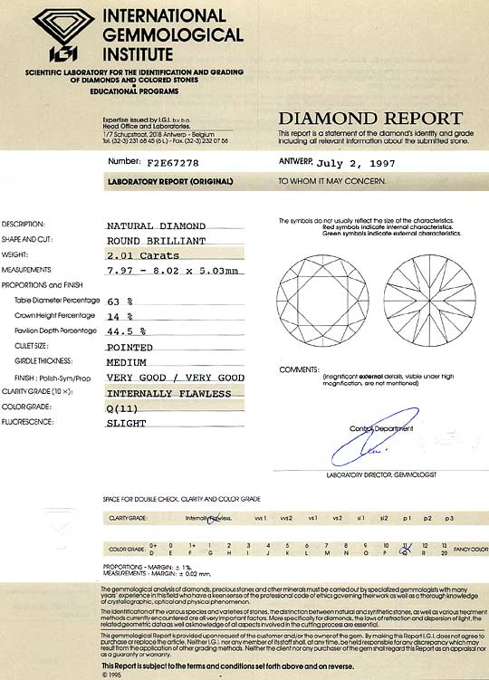 Foto 9, Diamant 2,01ct Lupenrein, Zitrone Hell Light Yellow IGI, D6419