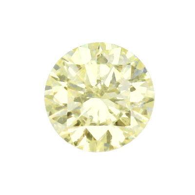 Foto 2, Diamant 1,07ct Brillant Lupenrein Zitrone Hell Cape IGI, D6420