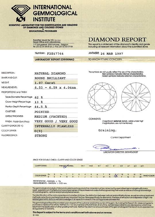 Foto 9, Diamant 1,07ct Brillant Lupenrein Zitrone Hell Cape IGI, D6420