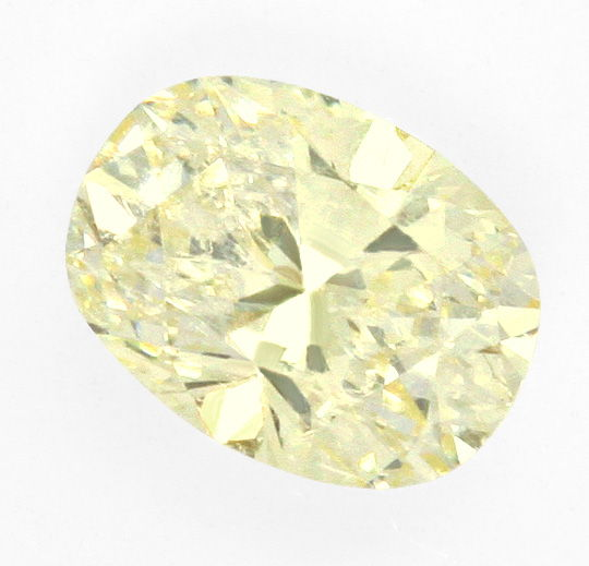 Foto 2, Ovaler Diamant 1,03 ct Lupenrein, Zitrone Hell Cape IGI, D6421