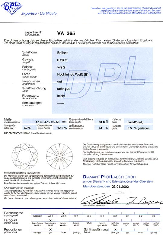 Foto 9, Diamant 0,28ct Brillant DPL VVS2 River Hochfeines Weiss, D6426