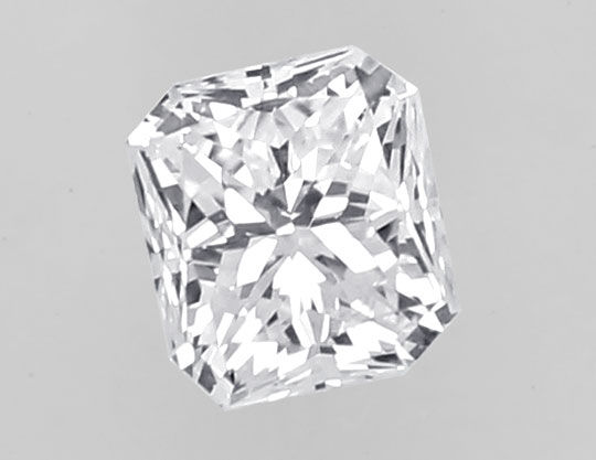Foto 2, Diamant 0,35ct IGI Top Wesselton F Cornered Rectangular, D6442