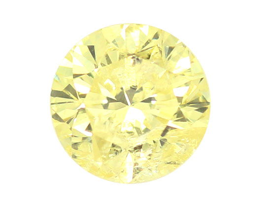 Foto 2, 1,07 Carat Zitronen Brilliant HRD, Yellow Natural Color, D6444