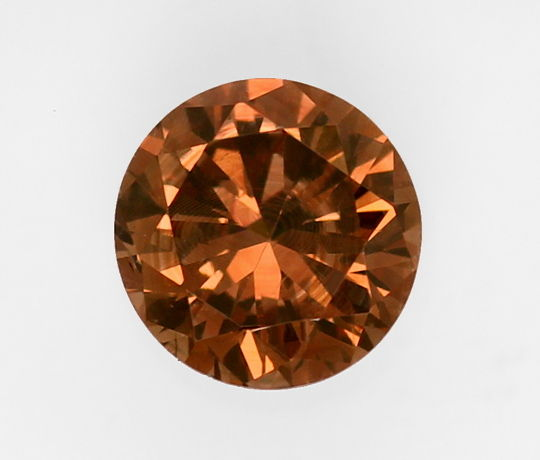 Foto 2, 0,65ct Cognac Brilliant HRD, Fancy Intense Orangy Brown, D6446