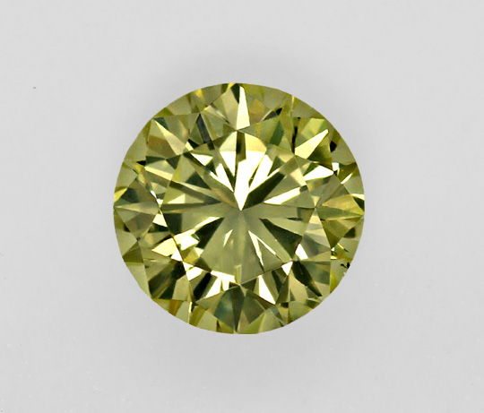 Foto 2, Grüner Olive Brilliant 1,02ct IGI Yellowish Green Olive, D6453