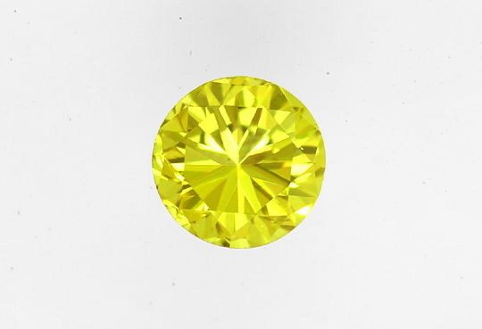 Foto 2, Dark Greenish Yellow Brilliant Wow-Farbe IGI VS1 0,13ct, D6456