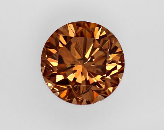 Foto 2, 1,04 ct Brilliant Fancy Intense Yellowish Brown SI2 HRD, D6465