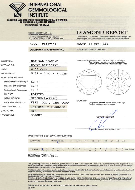 Foto 9, Der Beste Brillant 0,58ct Lupenrein River D Diamant IGI, D6469