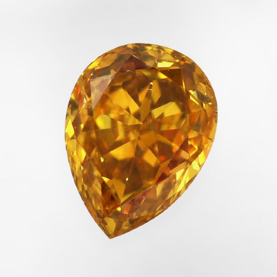Foto 2, 0,58ct Fancy Deep Yellow Orange SI2 Trofpen Diamant IGI, D6488