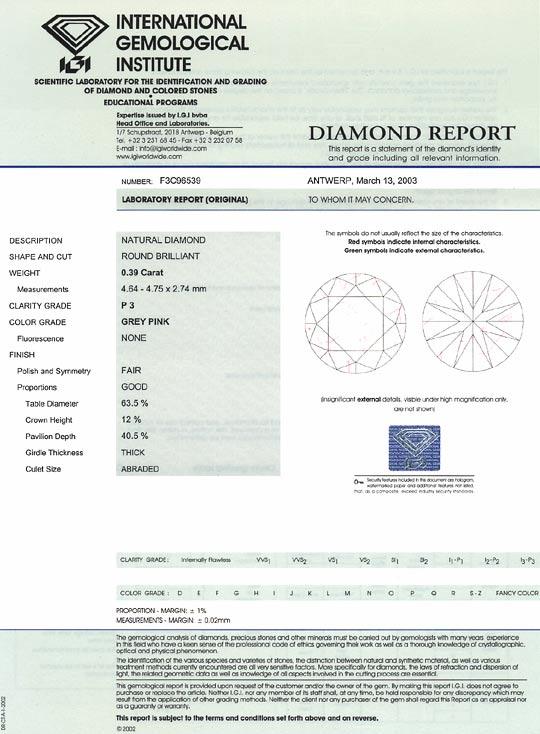 Foto 9, 0,39 Carat Brillant in Begehrtem Pink P3 IGI Zertifikat, D6490
