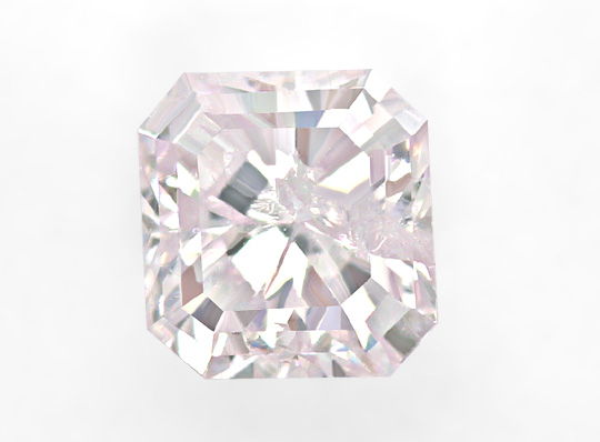 Foto 2, 0,34ct Very Light Pink Square Emerald Cut IGI Expertise, D6492