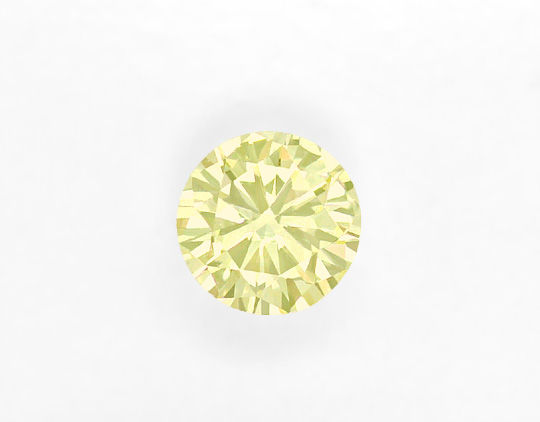 Foto 2, 0,233ct Sensationell Lemon Green Brillant IGI Expertise, D6493