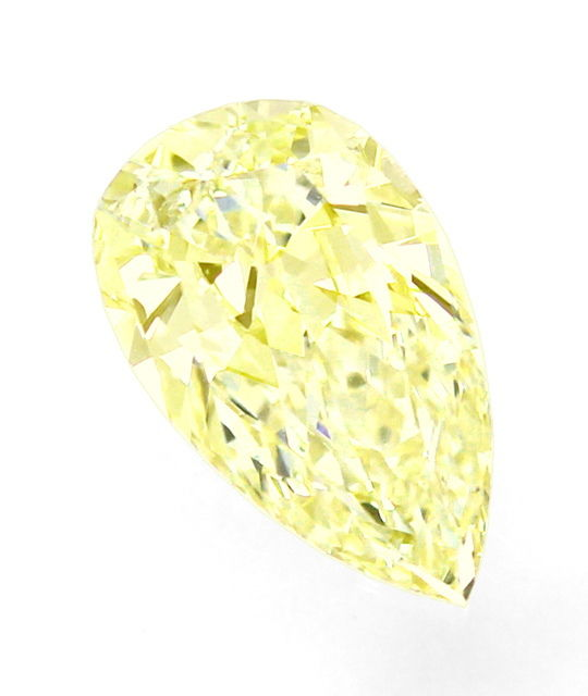 Foto 2, Diamant-Tropfen 1,05 ct Sensationell Yellow Zitrone HRD, D6529