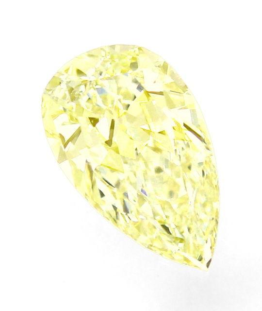 Foto 2, Diamant Tropfen 1,05 ct Sensationell Yellow Zitrone HRD, D6529