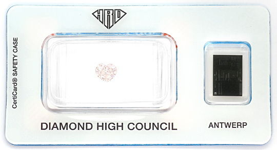 Foto 1, Herz Diamant 0,65 Carat Fancy Light Yellowish Pink, HRD, D6530