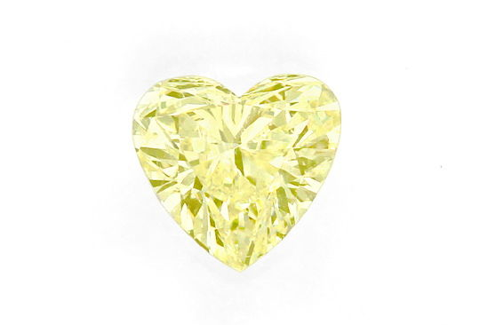 Foto 2, Herz Diamant 0,56 Sensationell Fancy Yellow Zitrone HRD, D6531
