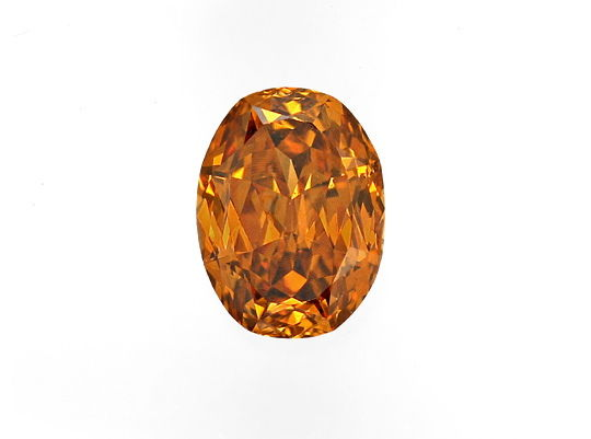 Foto 2, Ovaler Diamant 0,54 Top Deep Brownish Orange Cognac IGI, D6533