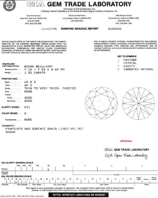 Foto 9, Brillant 1,52 Carat Top Wesselton SI1 mit GIA Gutachten, D6536