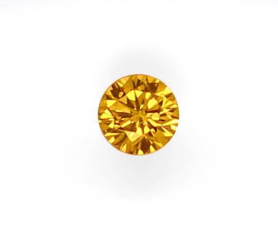 Foto 3, 0,19ct Super-Orange Brilliant HRD Fancy Yellowish Brown, D6546