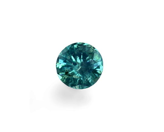 Foto 2, Fancy Intense Bluish Green Brillant HRD Zertifikat 0,17, D6547