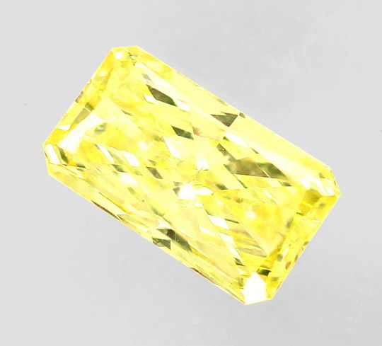 Foto 2, Diamant 0,54ct Princess Yellow Sensationell Zitrone IGI, D6560