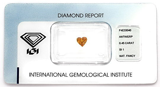 Foto 1 - Diamant Herz 0,45 Carat Sensationell Intense Orange IGI, D6561