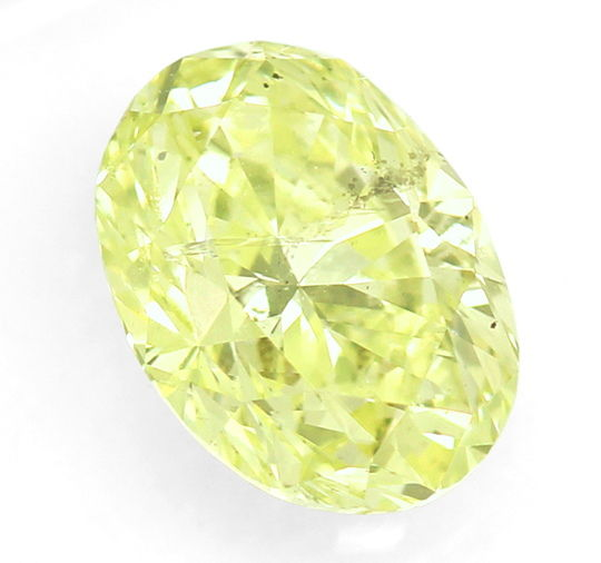 Foto 2, Diamant 1,65ct Fancy Intense Lime Yellow Green Oval IGI, D6562