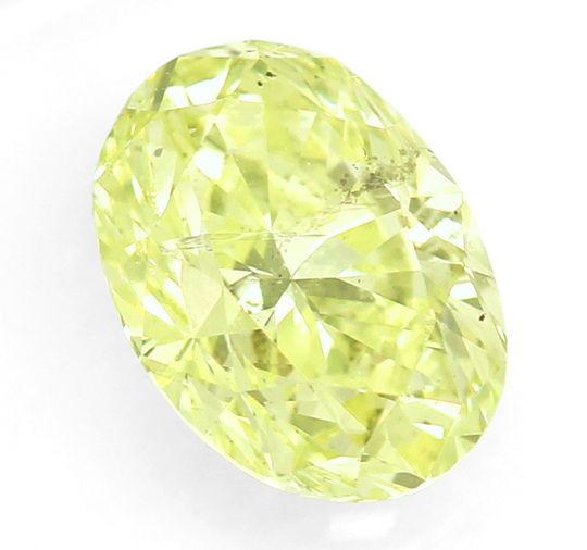 Foto 2, Diamant 1,65ct Fancy Intense Lime Yellow Green Oval IGI, D6562