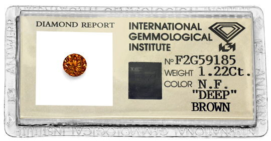 Foto 1, Brillant 1,22ct Fancy Intense Deep Brown Dunkel Rot IGI, D6563