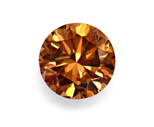 Foto 2 - 1,10 ct Brilliant Fancy Brown, Orange Rot Farbstich IGI, D6565